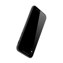 Kryt SULADA pro Apple iPhone X - kov / sklo - černý