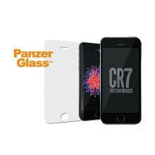 Tvrzené sklo (Tempered Glass) PANZERGLASS CR7 pro Apple iPhone 5 / 5S / 5C / SE - přední - 2,5D hrana - logo CR7 - 0,4mm