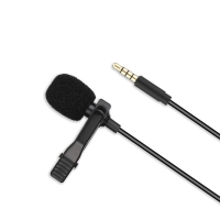 Mikrofon XO pro Apple iPhone / iPad / Mac - externí - klipový - 3,5mm jack - černý