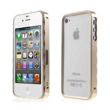 Rámeček / bumper pro Apple iPhone 4 / 4S - hliníkový - zlatý (champagne)