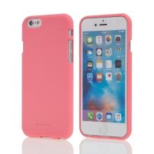 Kryt MERCURY Soft feeling pro Apple iPhone 6 / 6S - gumový - růžový