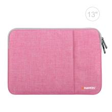 "Pouzdro se zipem HAWEEL pro Apple MacBook Air 13"" / Pro 13"" - postranní kapsa - růžové"