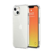 Kryt LEEU pro Apple iPhone 13 Pro Max - zesílené rohy - gumový - průhledný