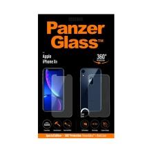 Tvrzené sklo (Tempered Glass) PANZERGLASS pro Apple iPhone Xr + zadní průhledný kryt - 0,4mm