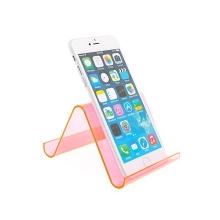 Plastový stojánek pro Apple iPad / iPhone - růžový