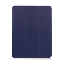 Pouzdro / kryt pro Apple iPad Air 4 (2020) - chytré uspání - držák Apple Pencil - umělá kůže - tmavě modré