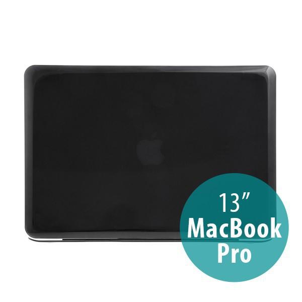 Tenký ochranný plastový obal pro Apple MacBook Pro 13 (model A1278) - lesklý - černý