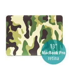 Plastový obal ENKAY pro Apple MacBook Pro 13 Retina - maskáč - zelený