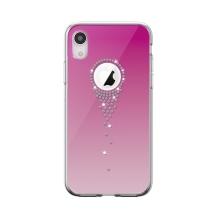 Kryt DEVIA Angel Tears pro Apple iPhone Xr - s kamínky - plastový - růžový
