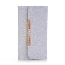 Pouzdro / kabelka pro Apple iPhone X - vyjímatelný kryt - řetízek přes rameno - umělá kůže - třpytivé modré