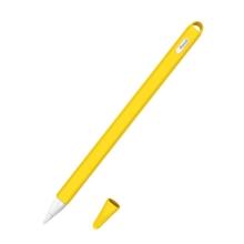 Obal pro Apple Pencil 2 - poutko + čepička - silikonový - žlutý