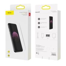 Tvrzené sklo (Tempered Glass) BASEUS pro Apple iPhone 11 / Xr - přední - 2,5D - čiré - 0,3mm - 2 kusy