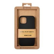 Kryt TACTICAL Velvet Smoothie pro Apple iPhone 12 mini - příjemný na dotek - silikonový - asfaltově černý