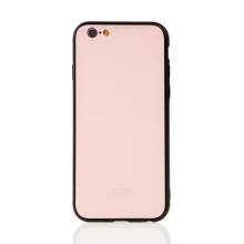 Kryt FORCELL pro Apple iPhone 6 / 6S - gumový / skleněný - černý / růžový