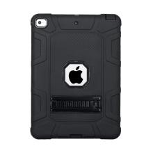 Kryt / obal pro Apple iPad 9,7 (2017-2018) - outdoor - odolný - výřez pro logo - plastový / silikonový - černý