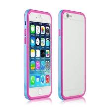 Ochranný plasto-gumový rámeček / bumper pro Apple iPhone 6 - modro-růžový