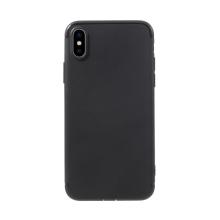 Kryt pro Apple iPhone X / Xs - gumový - černý