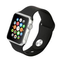 Řemínek pro Apple Watch 44mm Series 4 / 38mm 1 2 3 - silikonový - černý