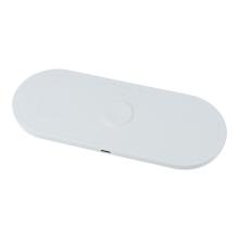 3v1 bezdrátová nabíječka Qi pro Apple iPhone + AirPods + Watch - bílá