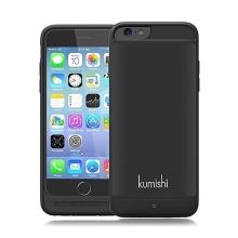 KUMISHI baterie externí s krytem pro Apple iPhone 6 / 6S 3000mAh MFi certifikovaná - černá