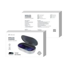 Bezdrátová nabíječka / UV sterilizér DEVIA - 10W - bílá