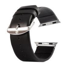 Řemínek Kakapi pro Apple Watch 44mm Series 4 / 5 / 42mm 1 2 3 + šroubovák - kožený - černý