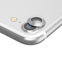 Kroužek / krytka BASEUS na kameru pro Apple iPhone 7 / 8 - kovový - stříbrný