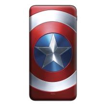 Externí baterie / power bank MARVEL - štít Kapitána Ameriky - 10000 mAh - 2x USB - bílá