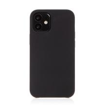 Kryt pro Apple iPhone 12 mini - gumový - příjemný na dotek - černý