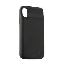 Externí baterie / kryt pro Apple iPhone X - 2500 mAh - matná - černá