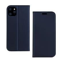 Pouzdro DZGOGO pro Apple iPhone 11 Pro - prostor pro platební karty - umělá kůže - tmavě modré