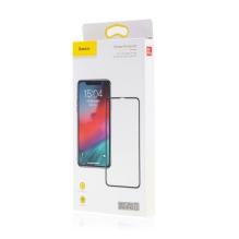 Tvrzené sklo (Tempered Glass) BASEUS pro Apple iPhone X / Xs - na přední část - černý rámeček - 0,3mm