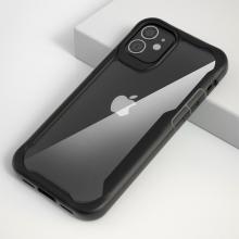 """Kryt pro Apple iPhone 12 (5,4"""") - plastový / gumový - průhledný / černý"""