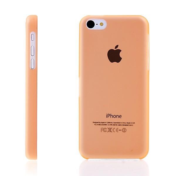 Ultra tenký ochranný kryt pro Apple iPhone 5C (tl. 0,3 mm) - plastový - matný - oranžový