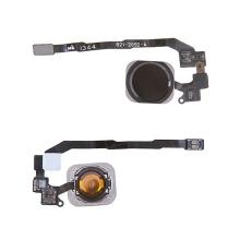 Obvod tlačítka Home Button včetně kovového rámečku a tlačítka Home Button pro Apple iPhone 5S / SE - černé - kvalita A+