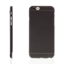 Ultra tenký plastový kryt pro Apple iPhone 6 / 6S - s prvkem pro ochranu skla kamery - černý