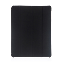 Ochranné pouzdro s variabilním stojánkem a funkcí chytrého uspání a probuzení pro Apple iPad 2. / 3. / 4.gen. - černo-průhledné