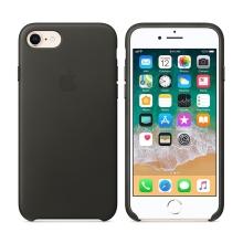 Originální kryt pro Apple iPhone 7 / 8 - kožený - uhlově šedý