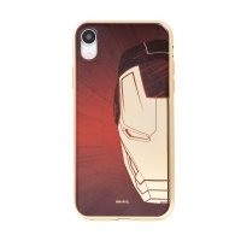 Kryt MARVEL Luxury pro Apple iPhone Xr - gumový - červený / zlatý - Iron Man