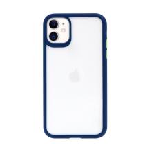Kryt USAMS Janz pro Apple iPhone 11 - plastový / gumový - průhledný / modrý