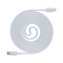 Synchronizační a nabíjecí kabel DEVIA - USB-C - Lightning pro Apple zařízení - bílý - 1m