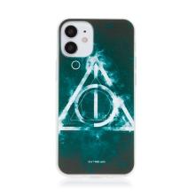 Kryt Harry Potter pro Apple iPhone 12 mini - gumový - Relikvie smrti - černý
