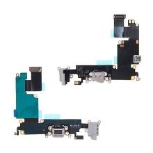 Napájecí a datový konektor s flex kabelem + audio konektor jack + GSM anténa pro Apple iPhone 6 Plus - šedý - kvalita A+