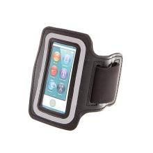 Sportovní pouzdro pro Apple iPod nano 7.gen. - černé - reflexní pruh