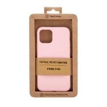 Kryt TACTICAL Velvet Smoothie pro Apple iPhone 11 Pro - příjemný na dotek - silikonový - růžový