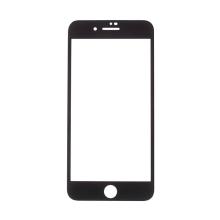 Tvrzené sklo (Tempered Glass) RURIHAI 4D pro Apple iPhone 8 - černý rámeček - 3D hrana