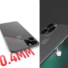 Kryt pro Apple iPhone 11 Pro Max  - s prvkem pro ochranu skla kamery - plastový - lososový
