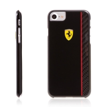 Kryt Ferrari Scuderia pro Apple iPhone 7 / 8 plastový - černý