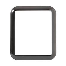 Tvrzené sklo (Tempered Glass) pro Apple Watch 42mm Series 3 - 3D okraj - černé / čiré