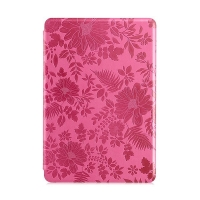 Ochranné pouzdro DEVIA pro Apple iPad mini / mini 2 / mini 3 se stojánkem a funkcí chytrého uspání - textura květů - růžové